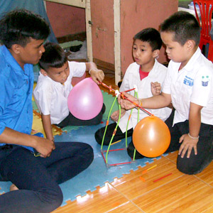 Students at Big Sister Mouse, Luang Prabang, Laos