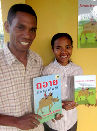 The new translation of New Improved Buffalo, in Tetun language, in East Timor