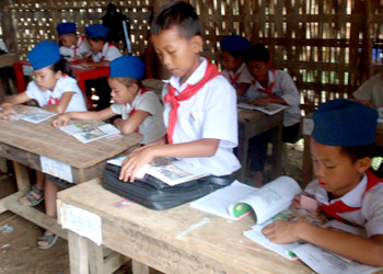 Measuring reading levels in a Lao school
